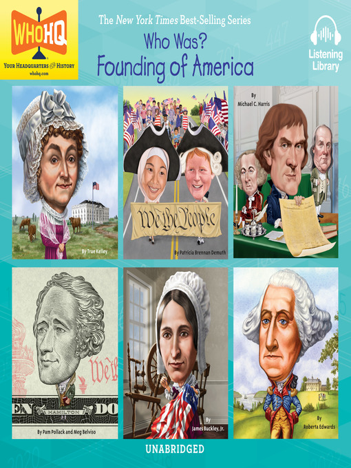 Cover image for Who Was - Founding of America: Abigail Adams; Constitution; Declaration of Independence; Alexander Hamilton; Betsy Ross; George Washington