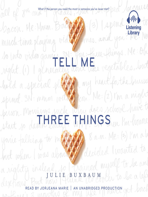 Cover image for Tell Me Three Things