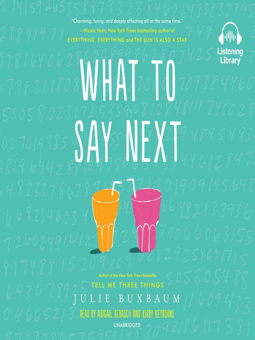 Title details for What to Say Next by Julie Buxbaum - Available