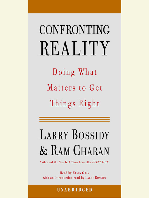 Cover of Confronting Reality