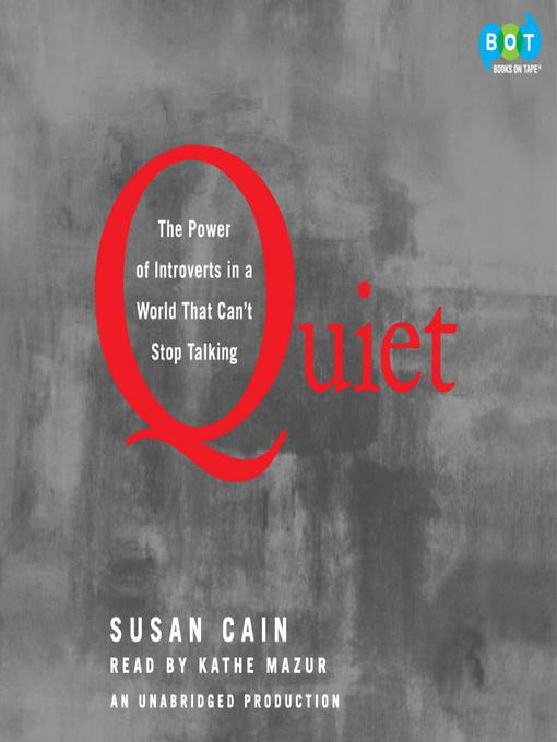 Title details for Quiet by Susan Cain - Wait list