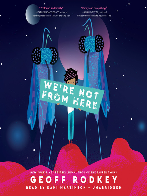 We're Not From Here, book cover