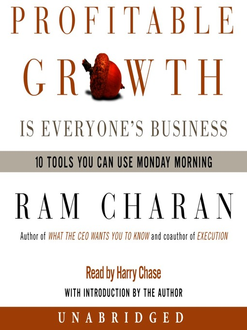 Cover of Profitable Growth is Everyone's Business