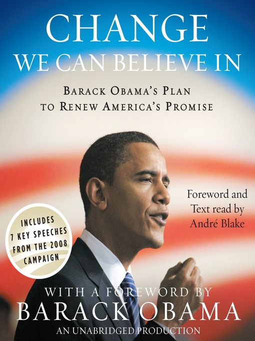 Title details for Change We Can Believe In by Barack Obama - Available