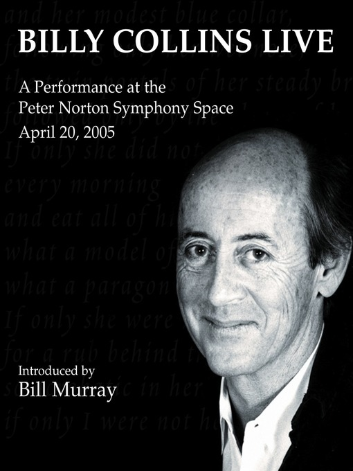 Title details for Billy Collins Live by Billy Collins - Available
