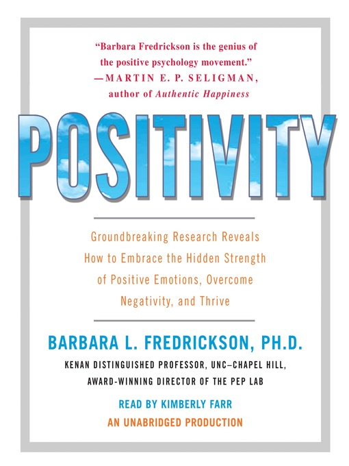 Title details for Positivity by Barbara Fredrickson - Wait list