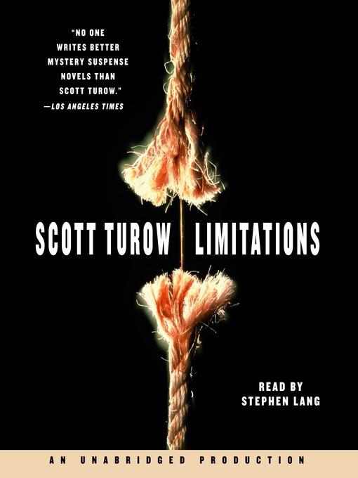 Title details for Limitations by Scott Turow - Wait list
