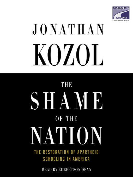 Cover image for The Shame of the Nation