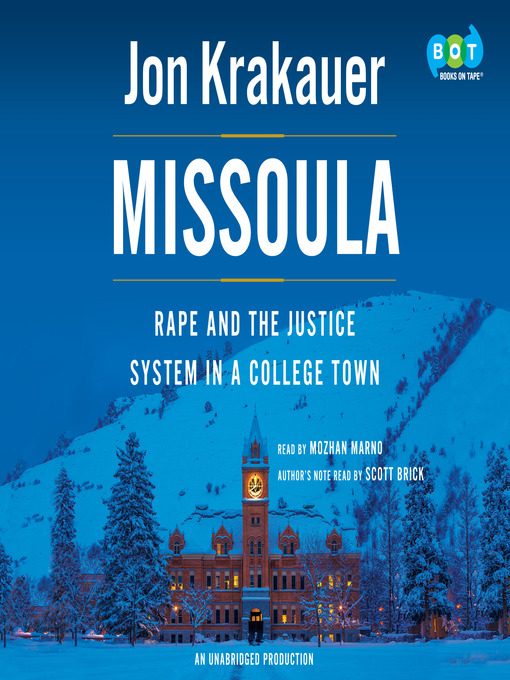 Title details for Missoula by Jon Krakauer - Wait list
