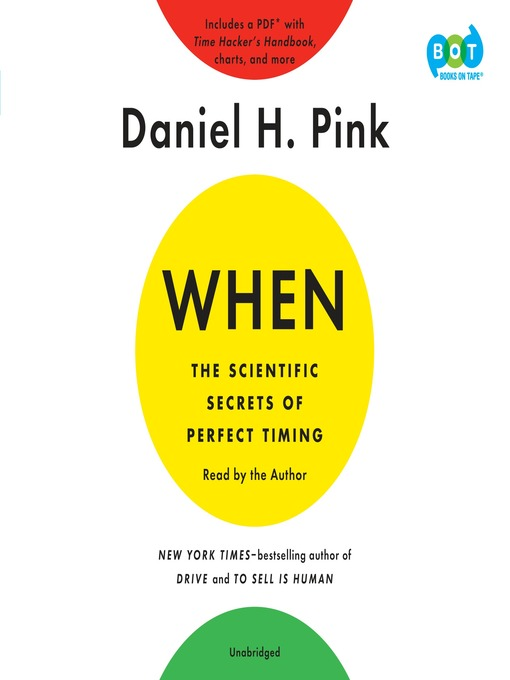 Title details for When by Daniel H. Pink - Wait list