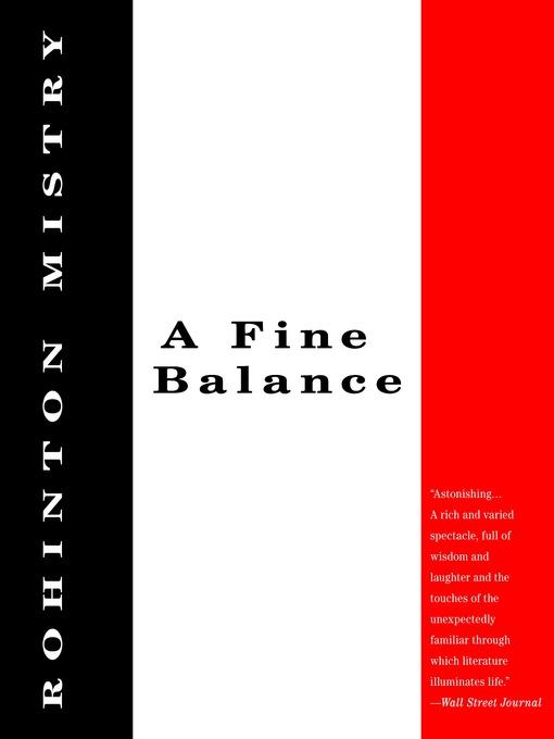 Title details for A Fine Balance by Rohinton Mistry - Wait list