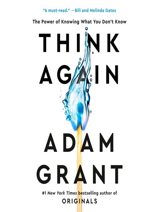 Title details for Think Again by Adam Grant - Wait list