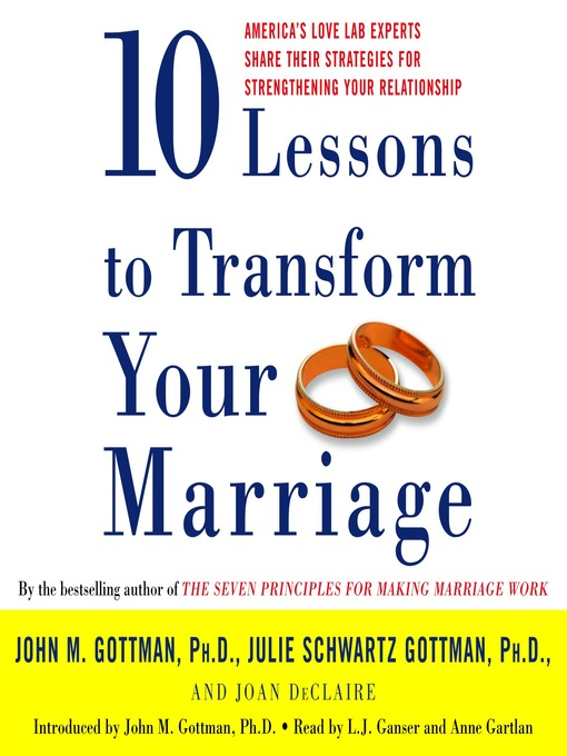 Title details for Ten Lessons to Transform Your Marriage by John Gottman - Wait list