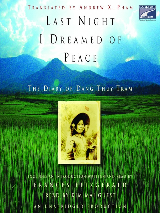Title details for Last Night I Dreamed of Peace by Dang Thuy Tram - Available