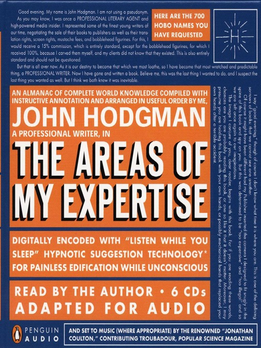 Cover of The Areas of My Expertise