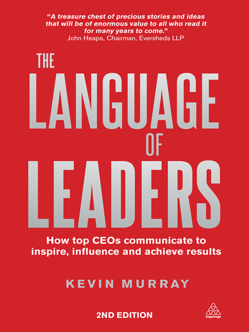 Title details for The Language of Leaders by Kevin Murray - Available