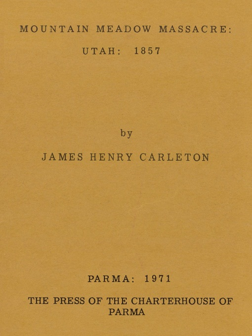 Cover image for Mountain Meadow Massacre: Utah: 1857