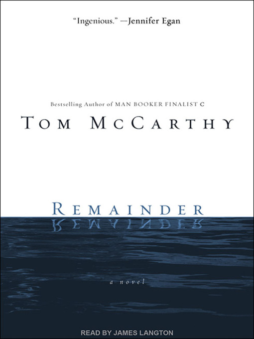 Title details for Remainder by Tom McCarthy - Available