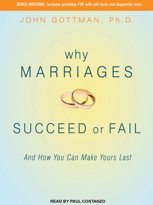 Title details for Why Marriages Succeed or Fail by John M. Gottman, PhD - Wait list