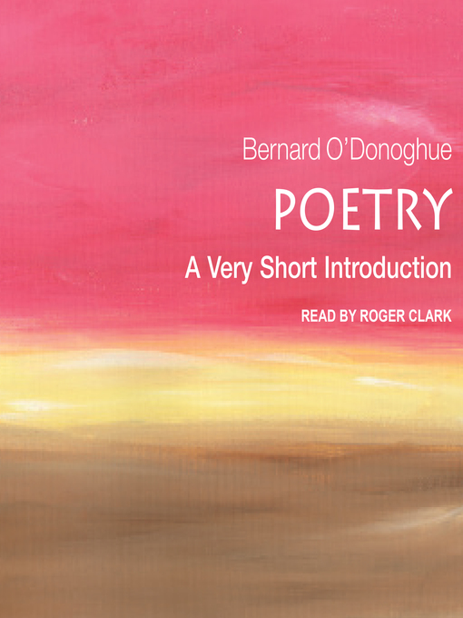 Title details for Poetry by Bernard O'Donoghue - Wait list