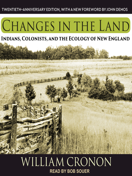 Title details for Changes in the Land by William Cronon - Wait list