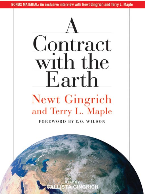 Title details for A Contract with the Earth by Newt Gingrich - Available