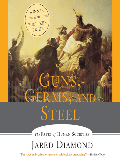 What is Jared Diamond's thesis in Guns, Germs, and Steel and what question is he trying to answer?