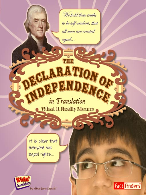 Title details for The Declaration of Independence in Translation by Miles Tagmeyer - Available