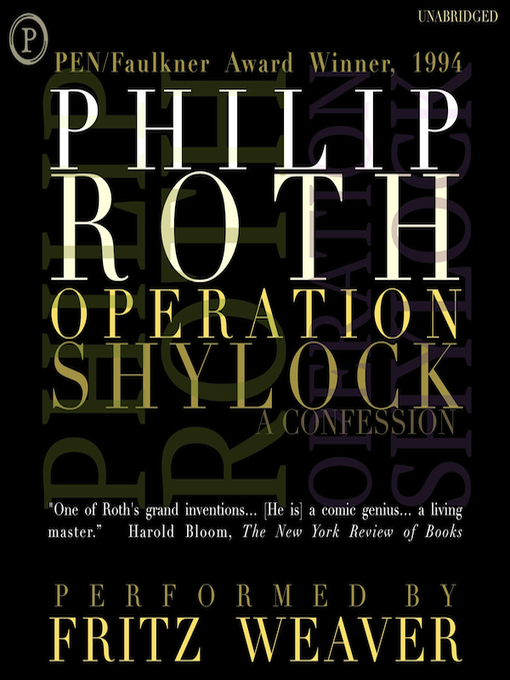 Title details for Operation Shylock by Philip Roth - Available