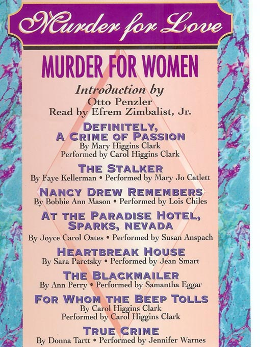 Title details for Murder for Love, Murder for Women by Otto Penzler - Available