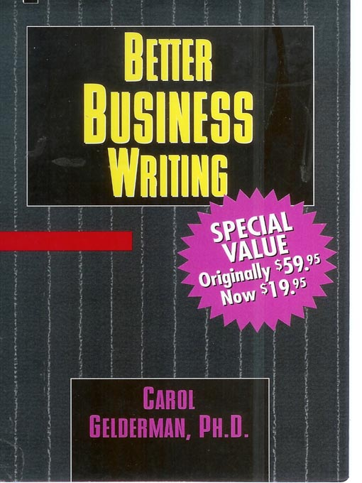 Cover image for Better Business Writing