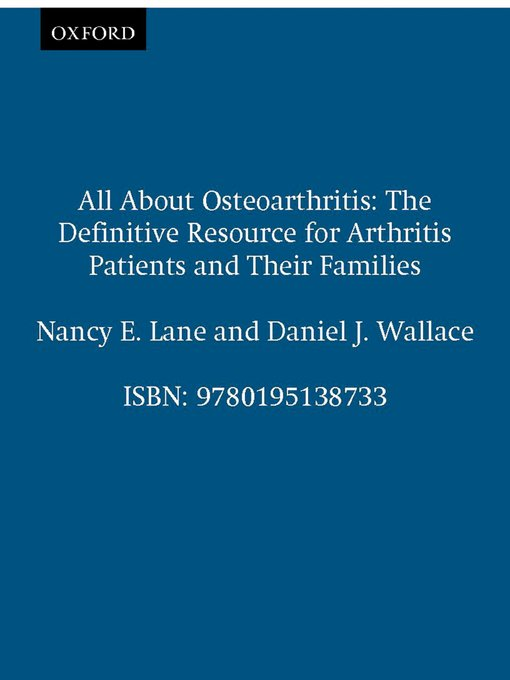 Title details for All About Osteoarthritis by Nancy E. Lane - Available