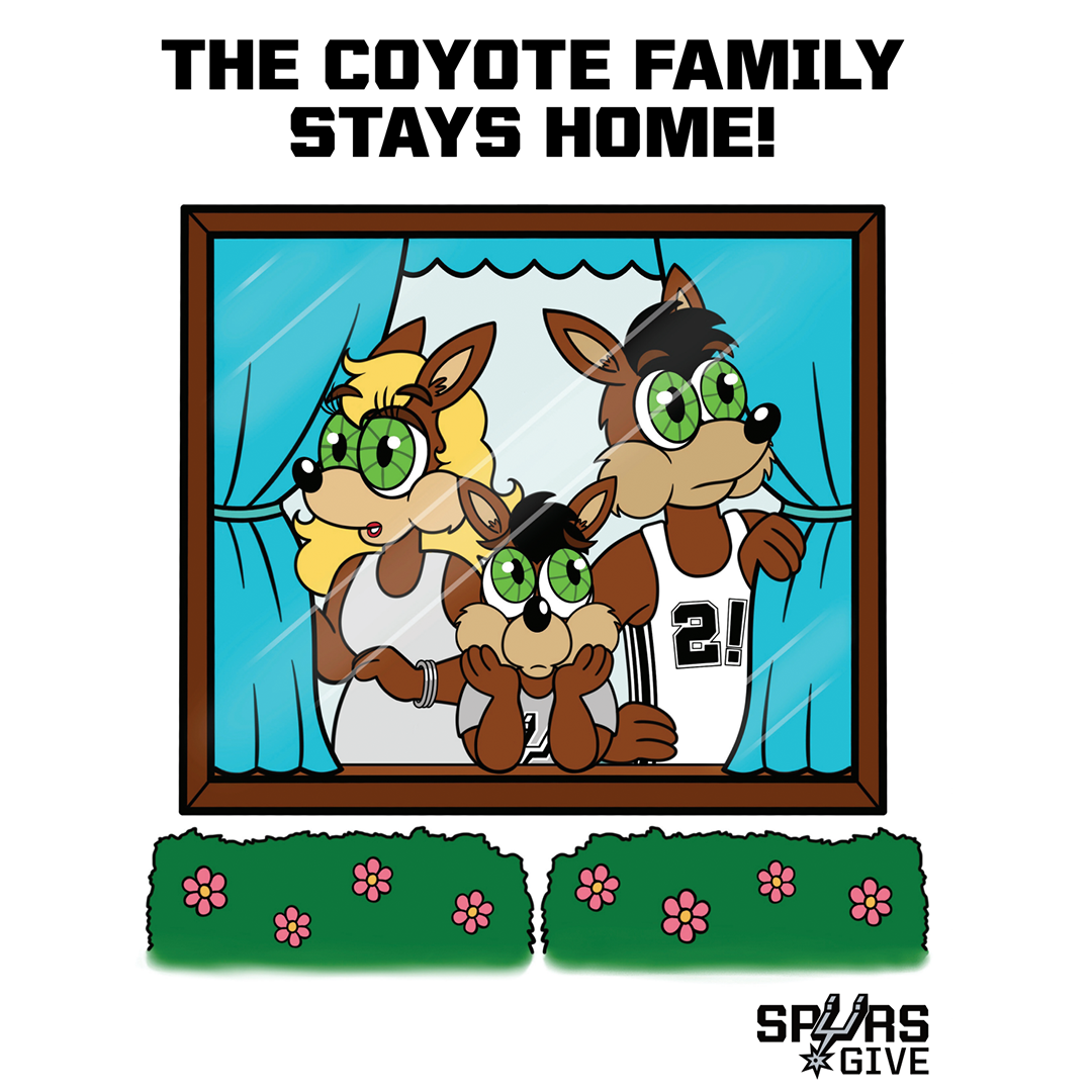 Title details for The Coyote Family Stays Home! by Spurs Give - Available