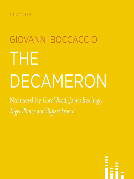 an overview of the book the decameron by giovanni boccaccio The decameron giovanni boccaccio the decameron and lust, see book iv of republic) boccaccio himself notes that the names he gives for these ten characters.
