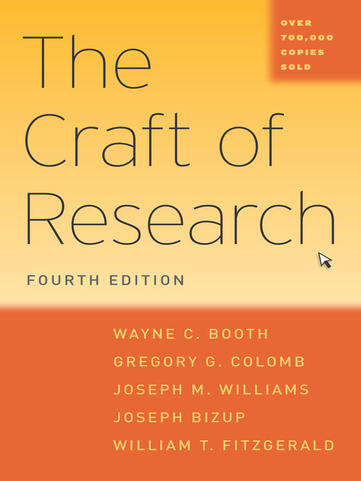Title details for The Craft of Research by Wayne C. Booth - Available