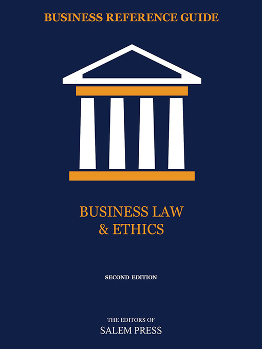 Cover of Business Law & Ethics