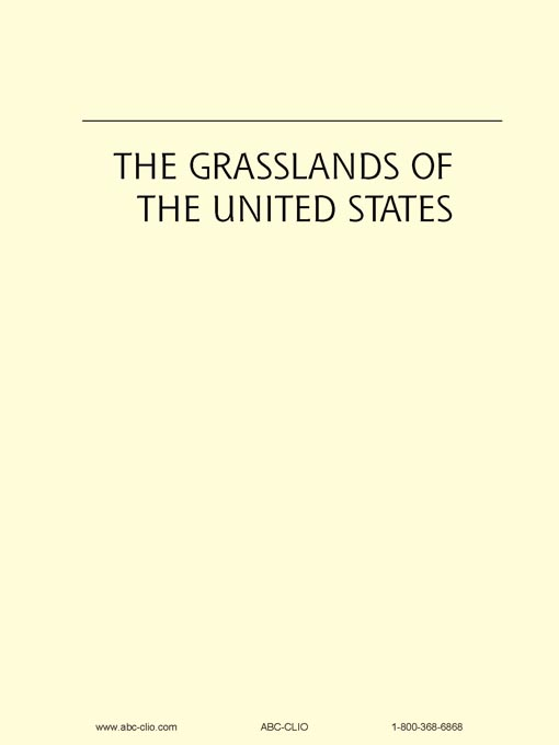 Title details for The Grasslands of the United States by James Sherow - Wait list