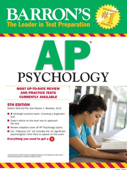 ap psych barrons I am going into sophomore year soon, and i have been thinking of self-studying ap psych for some background, i was an average student throughout.