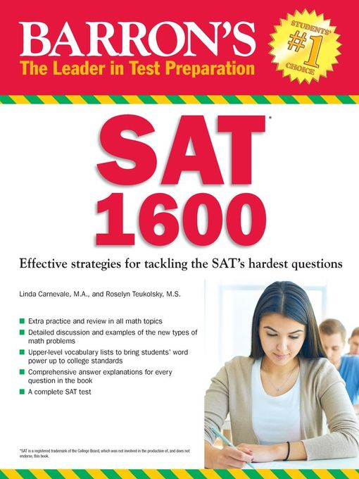 Title details for Barron's SAT 1600 by Linda Carnevale - Available