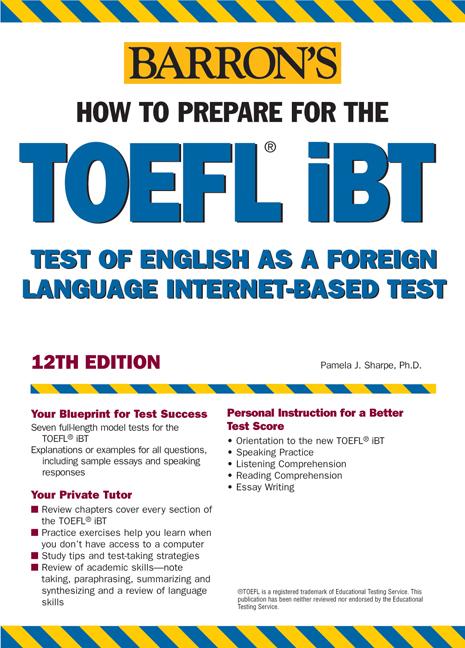 Title details for Barron's TOEFL by Pamela Sharpe, Ph.D. - Wait list