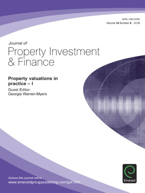 Cover of Journal of Property Investment & Finance, Volume 34, Issue 6