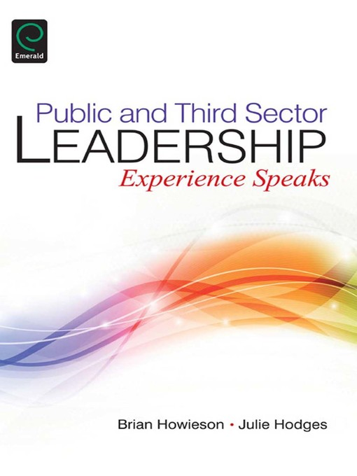 Title details for Public and Third Sector Leadership by Brian Howieson - Available
