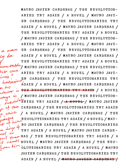 Title details for The Revolutionaries Try Again by Mauro Javier Cardenas - Wait list