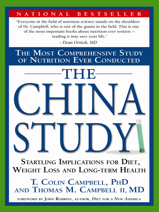 Title details for The China Study by Colin Campbell - Wait list
