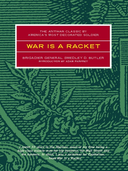Title details for War is a Racket by Smedley Butler - Available