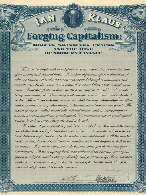 Title details for Forging Capitalism by Ian Klaus - Available