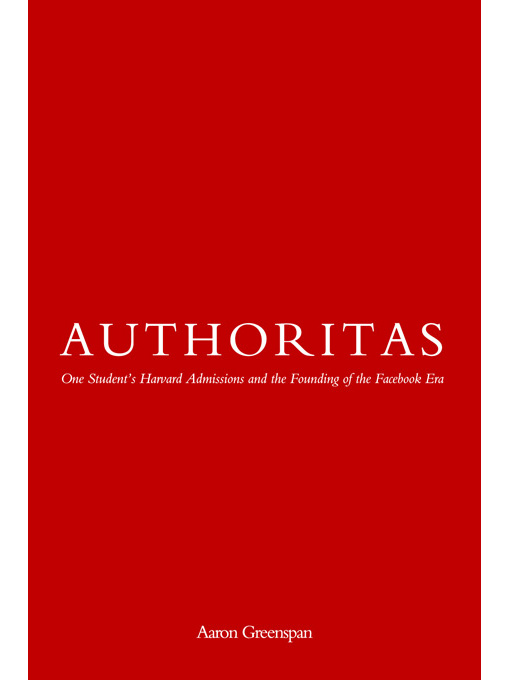 Title details for Authoritas by Aaron Greenspan - Available