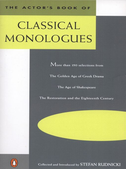 Title details for The Actor's Book of Classical Monologues by Stefan Rudnicki - Wait list