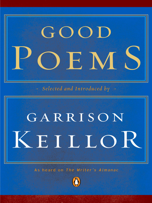 Cover of Good Poems