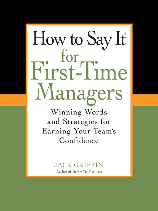 Cover of How to Say It for First-Time Managers